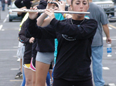 Marching band prepares for Macy's Thanksgiving Day Parade performance