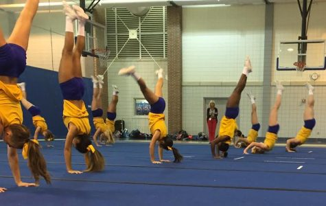 Varsity cheerleading has a competition at Purdue University Oct. 2.