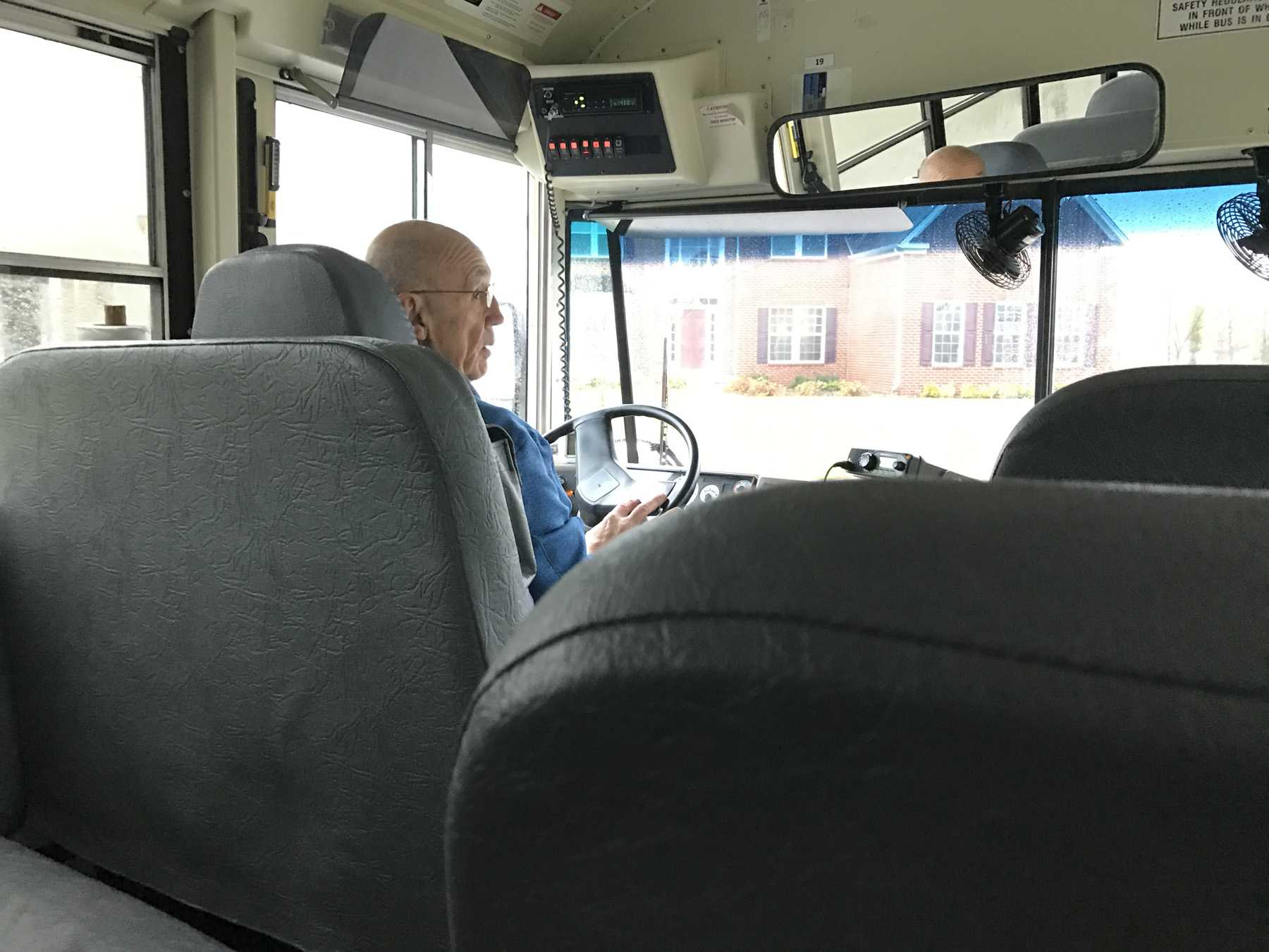 ​Bus Driver Rodney Hofts drops students off after sc​hool. He has been driving for Carmel Clay schools for the last three years.
