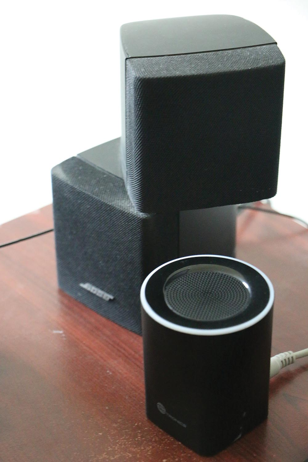 Magesh's Bose speakers.