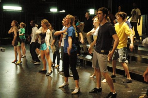 """Members of Blue and Gold Company rehearse for their first concert. """"In Concert"""" will be on Sept. 27 in the auditorium. GAVIN COLAVITO / PHOTO"""