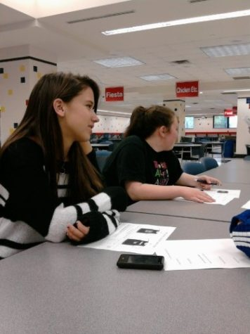 Senior Emily Marris waits to be assigned her Buddy in September. Marris is a member of Best Buddies, a program that pairs peers with buddies to promote friendship and understanding. SHAYAN AHMAD/ PHOTO