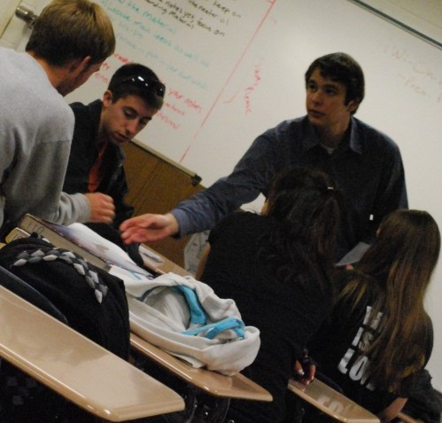Debate team adviser James Ziegler instructs students. Debate team members prepare for their third competition that will take place on Nov. 5. GRAYSON HARBOUR / PHOTO