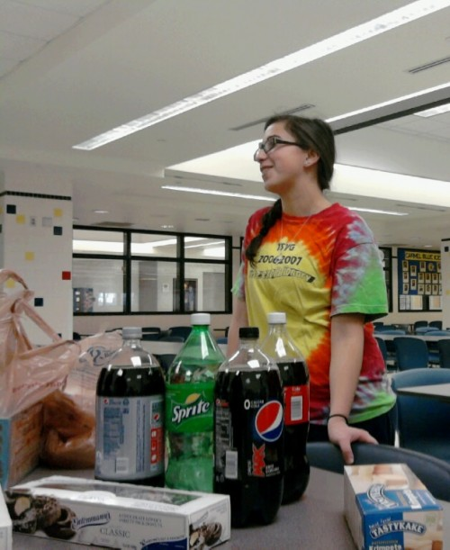 Brett Gerstein, club president and junior, helps organize a Jewish Student Union (JSU) party. According to Gerstein, JSU will be baking hamantashen on March 5 to celebrate the Jewish holiday Purim. ANDY YANG/PHOTO