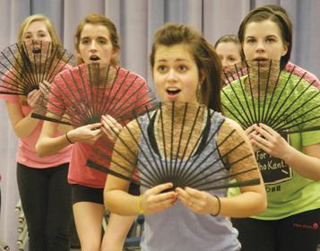Performing arts activities prepare for spring shows