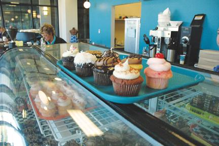 Holy cow: Holy Cow, Cupcakes! is located on 61 W. City Center Dr., according to its website. Students can also follow this business on Twitter at @HolyCowCupcakes. RACHEL BOYD / PHOTO