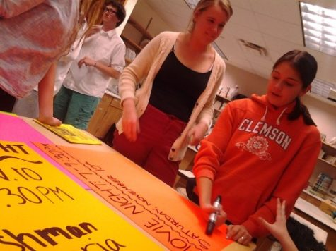 Sophomore Class officers promote student government activities