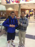 Cru Club member Clay Villegas shares his personal experiences with Cru Club sponsor Brian Clark. The Cru Club meets every Tuesday morning at 7 a.m. in the freshman cafeteria. JACOB BOTKIN / PHOTO