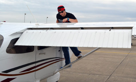 Sophomore John Lawless aspires to use his experience as a student pilot to achieve his goals in aviation