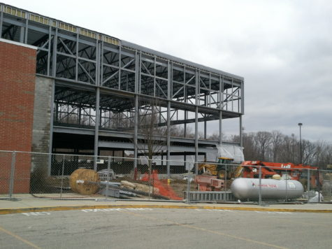 Maintenance department continues work on new fitness building