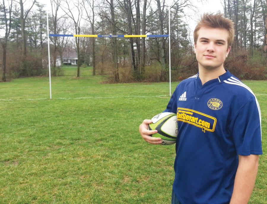 Junior Hunter Hodge plays rugby as a club sport