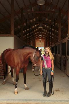Sophomore Taylor Johnson competitively horseback rides