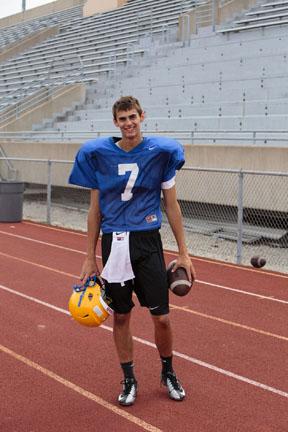 John Lampe, quarterback and senior, discusses the upcoming Homecoming game.