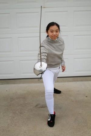 Sophomore Allison Kim is a nationally ranked fencer