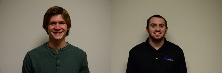Cole Stark and Matt Hicks, junior co-presidents of Real Help Club. SCOTT LIU / PHOTO