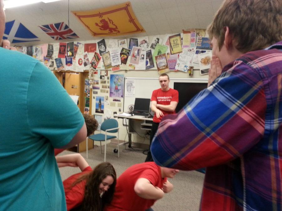 ComedySportz members rehearse before upcoming matches. According to sponsor Jim Peterson, the team will have home matches against Bishop Chatard on March 27 and Guerin Catholic on March 28. JASON KLEIN / PHOTO
