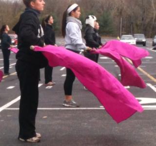 Winter guard prepares for State Preliminary competition