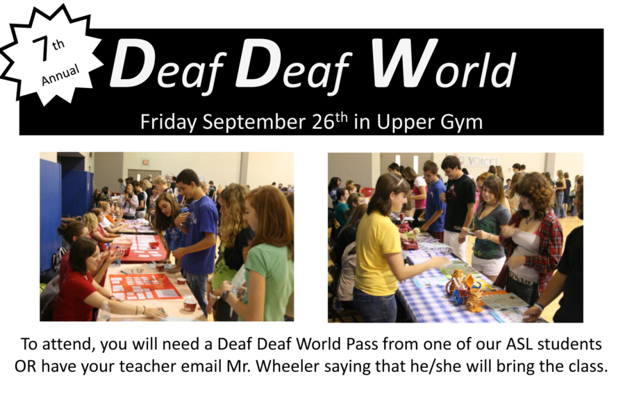 American Sign Language II students prepare for Deaf Deaf World Sept. 26