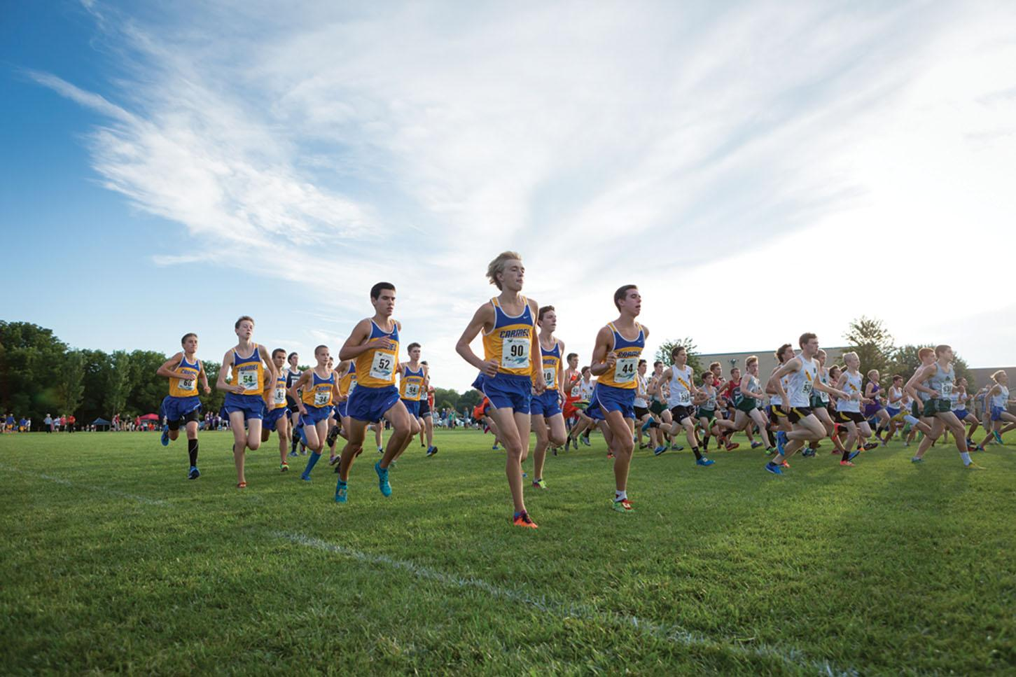 The Cross Country team competes at a meet. The team plans on continuing their streak of winning State this year. PHOTO / KYLE CRAWFORD