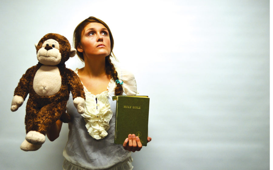 Mormon and junior Megan Armstrong tries to find a balance between evolution and her faith. Armstrong said she currently believes in literal creationism.