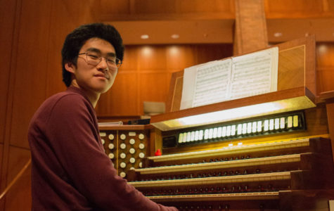 THE 'KING OF INSTRUMENTS': Junior Joseph Huang plays the pipe organ