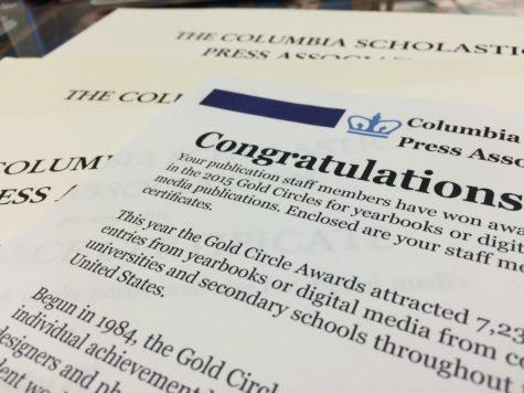 HiLite staff members earn 2015 CSPA Gold Circle awards