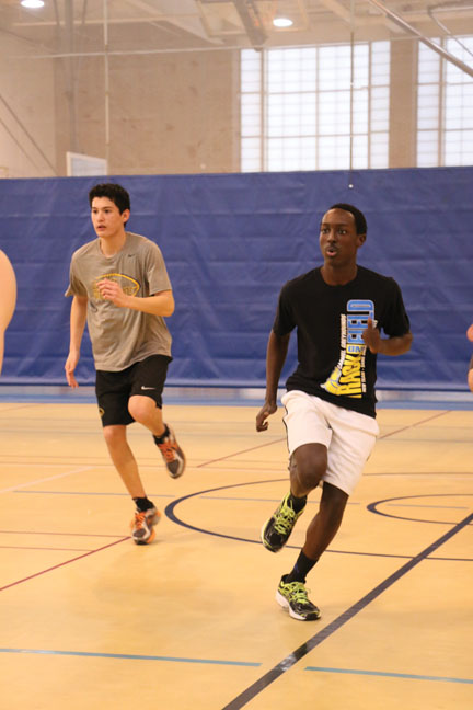 Jonnathon Robinson, senior and track athlete, takes part in his track practice. Robinson said sometimes stereotypes set him up for failure.