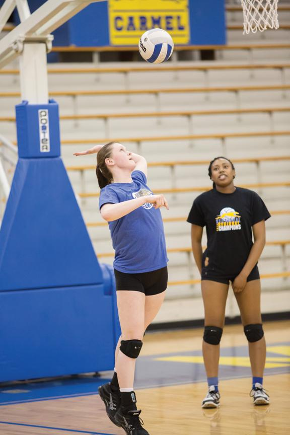 Women's volleyball begins workouts early