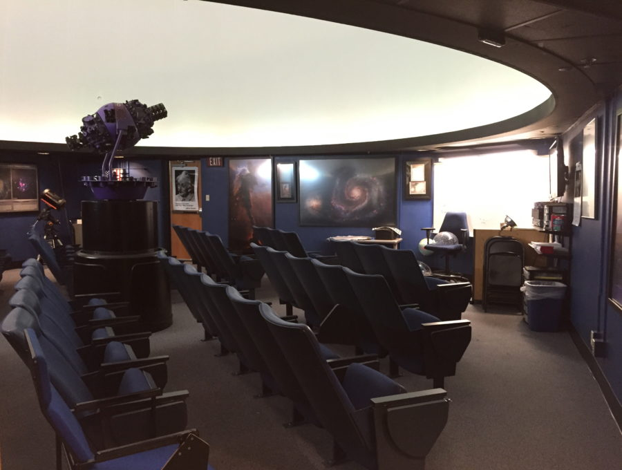 Students in astronomy classes can learn how to operate the Planetarium by joining the club. They also organize and put on public shows.