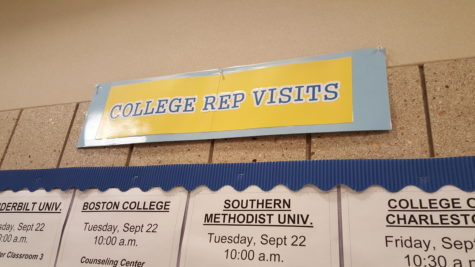 College Representative Visit Schedule