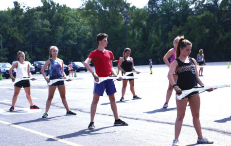 Waving a New Men-tality:  Color guard allows male students to join for the first time