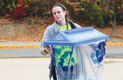 NHS uses Carmel Green Teen grant to promote variety of recycling methods
