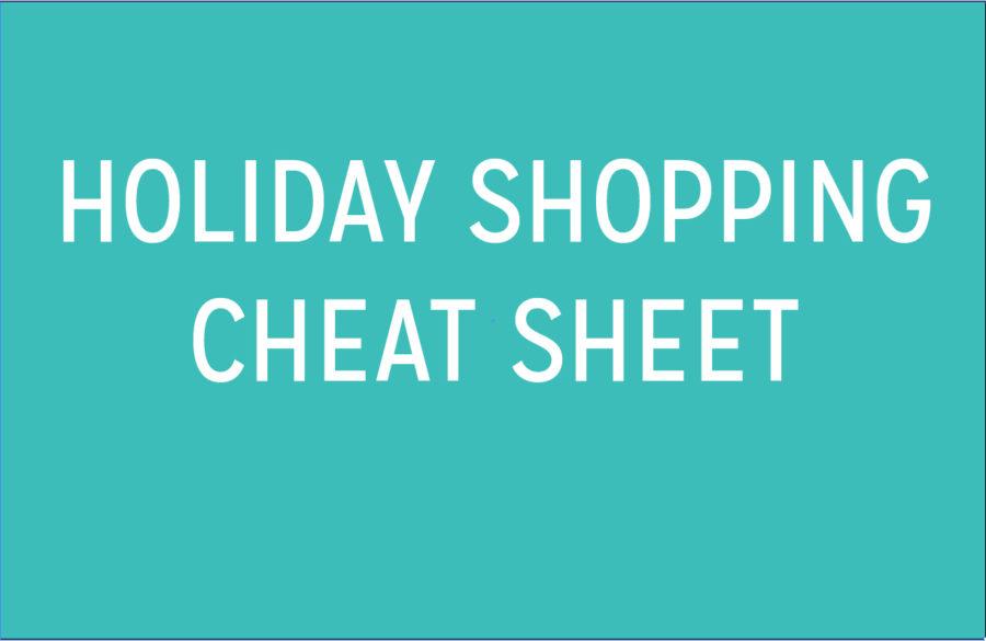 Holiday Shopping Cheat Sheet: Graphic