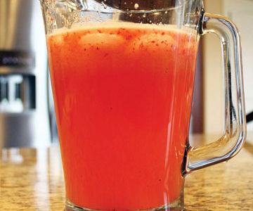 Celebrate the beginning of summer with strawberry lemonade
