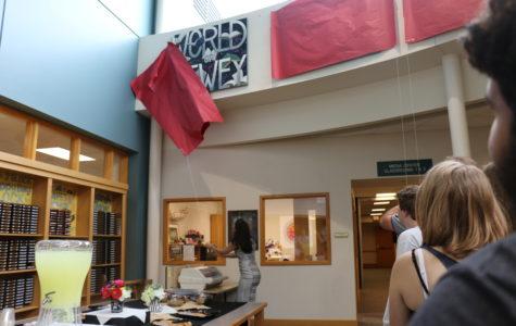 Local artist Carolyn Martens and media specialist Terri Ramos unveil new art installation