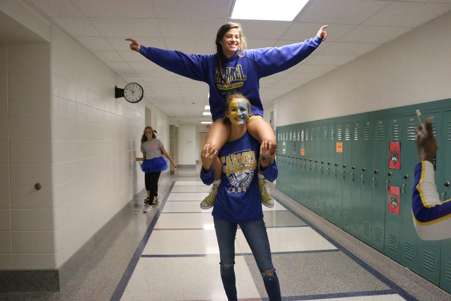 FRIDAY: BLUE AND GOLD