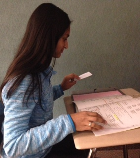 Sophomore Jaanvi Bisariya studies intently for her quiz in spanish before her class starts. Bisariya believes that the PTO is an important part of CHS and anyone interested should make note that the next meeting will be held on Dec. 6.