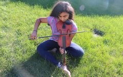 """Another String To Her Bow:  Freshman Abirami """"Abi"""" Meyyappan plays the carnatic violin"""