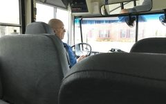 Bus Driver Rodney Hofts drops students off after school. He has been driving for Carmel Clay schools for the last three years.