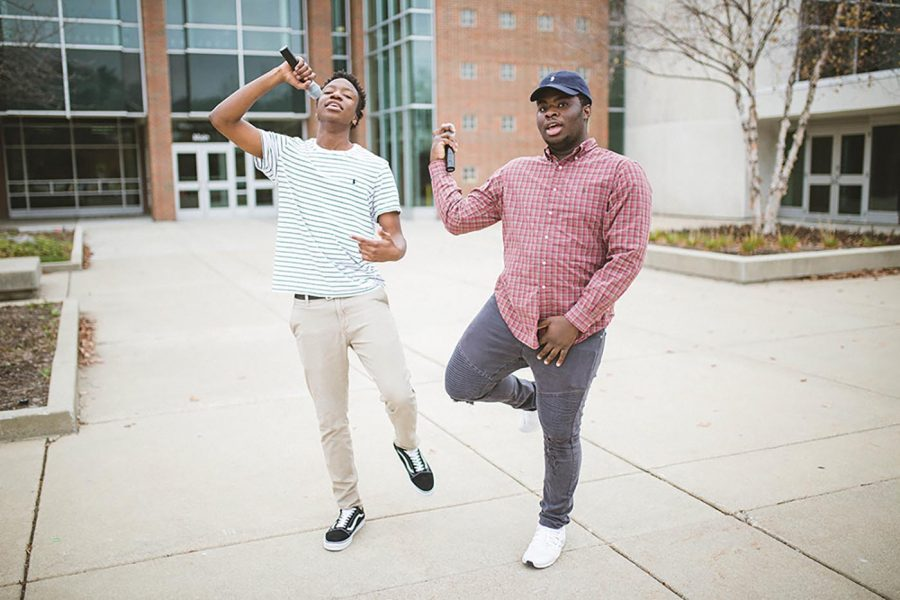 RISING RAPPERS: Rappers and juniors David Chilemba (left) and Rashid
