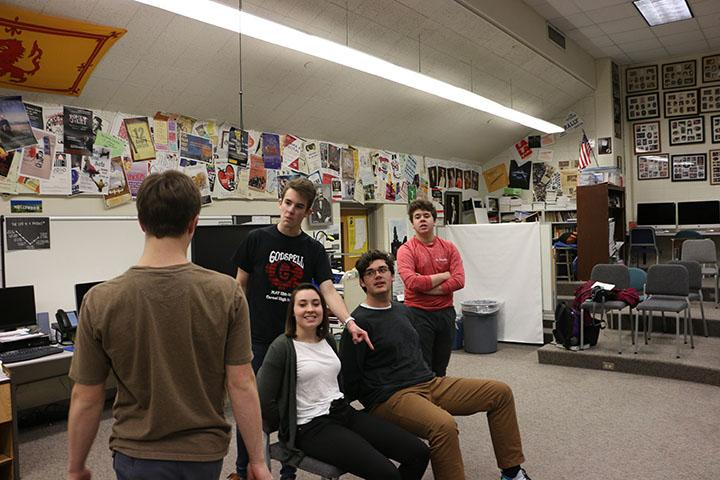 During one of their recent rehearsals, ComedySportz members play a comedic improv game to prepare for their upcoming matches. In this game, the team strengthened their