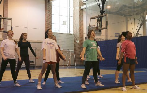 Winter cheerleading will cheer for men's basketball Senior Night on Feb. 17