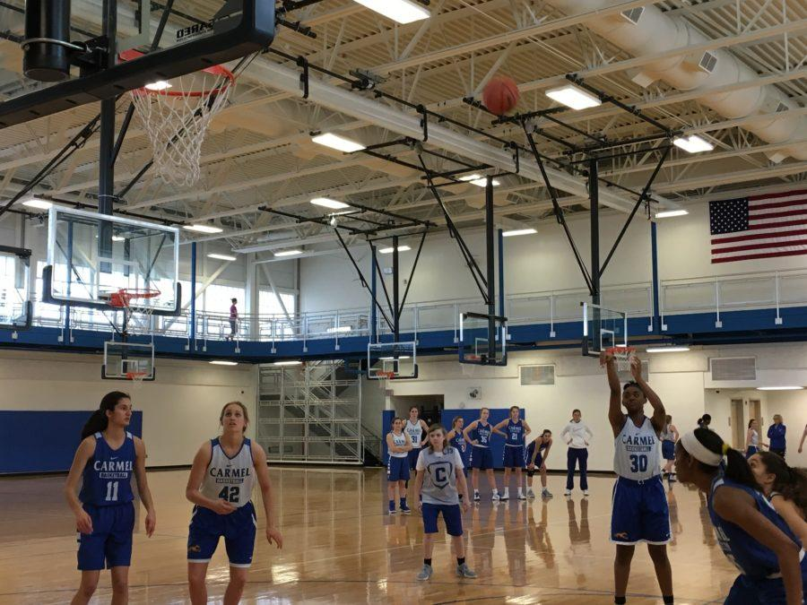 The team practices the night before in preparation for their game in Kokomo. They lost in the Regional Championship.