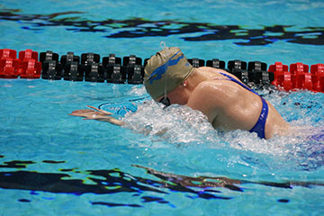 Junior Alyssa Conley swims in practice. The CHS women's swimming and diving team won their 31st consecutive State Championship on Feb. 11th.