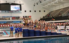 Women's swimming team wins it's 31st consecutive State Championship