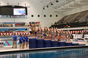 Womens swimming team wins its 31st consecutive State Championship