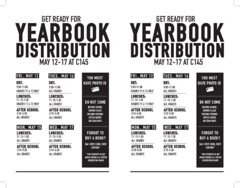 Yearbook Distribution Schedule