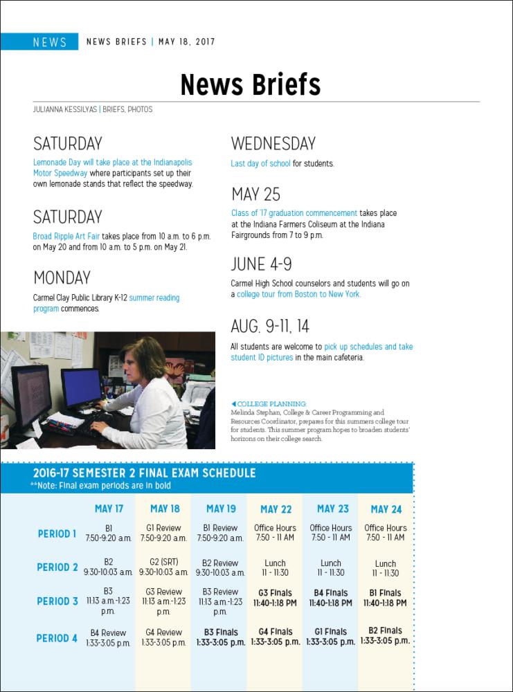 News Briefs 5/18