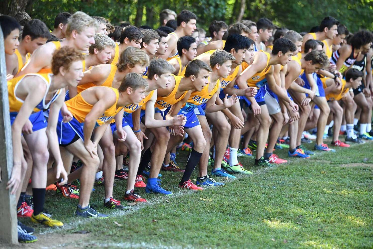 Sean Reimer is running in the Trinity Invitational with his fellow teammates. The Trinity Invitational was on September 16 and CHS won 1st place.
