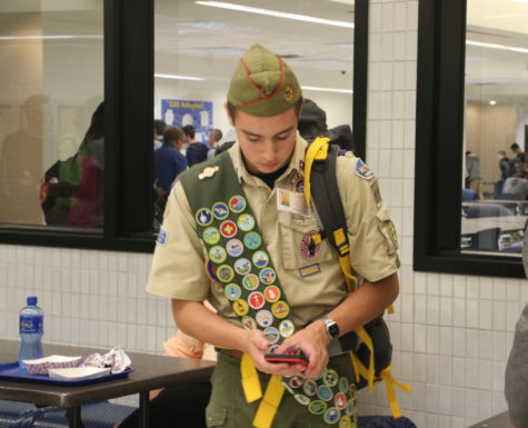 Junior Austin Rushinky dressed up as Russel from UP.